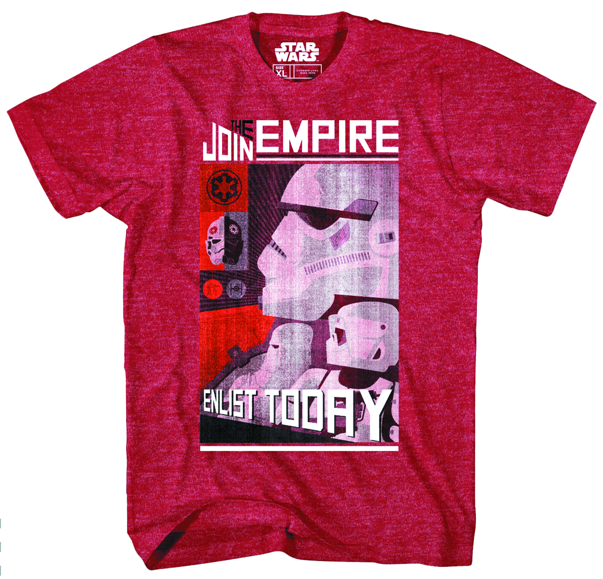SW JOIN THE EMPIRE PX CARD HEATHER T/S LG