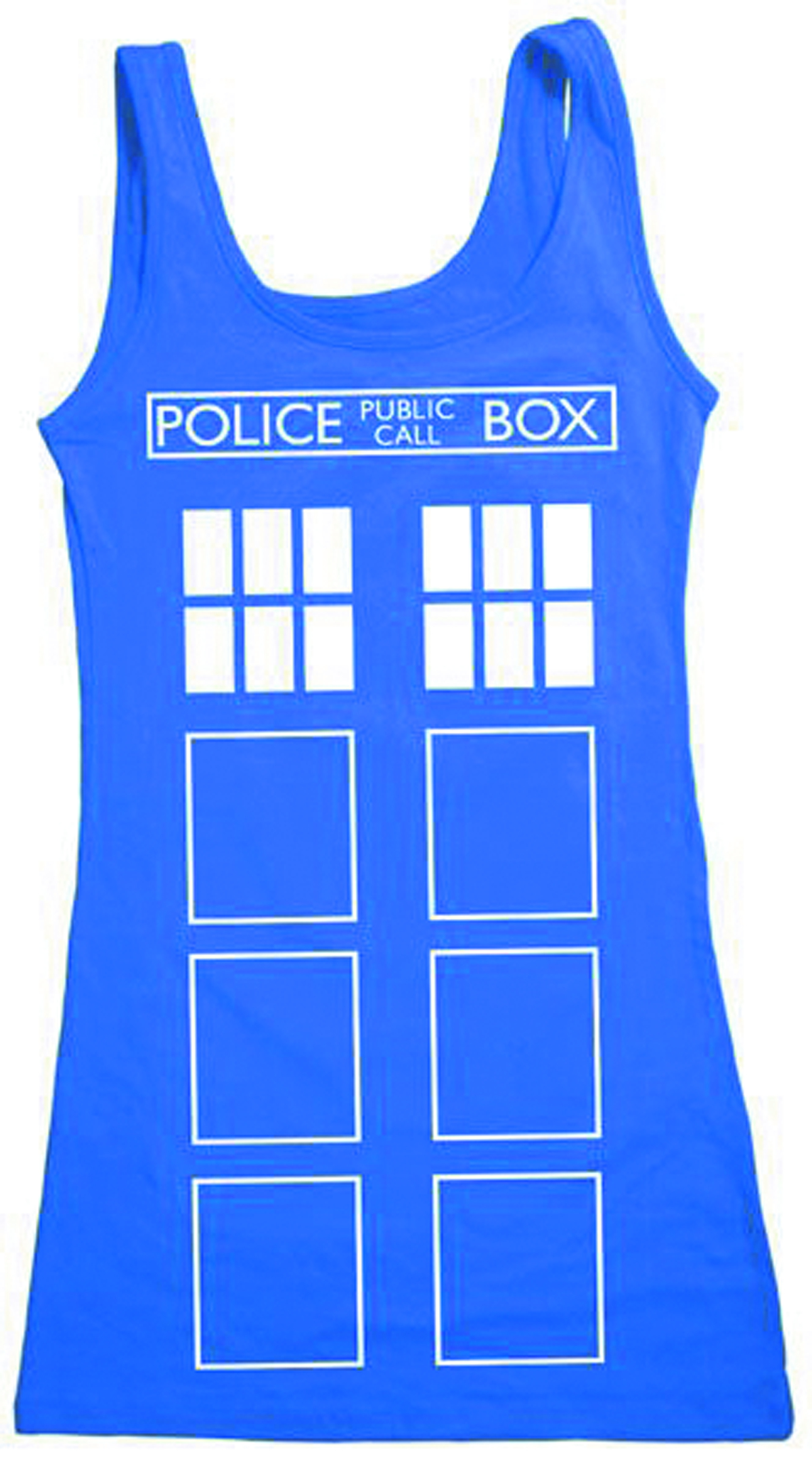 DW TARDIS FRONT OUTLINE JRS TANK LONG XL