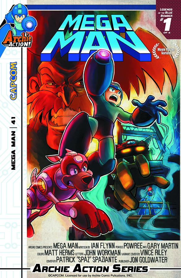 MEGA MAN #41 MOVIE POSTER VAR CVR
