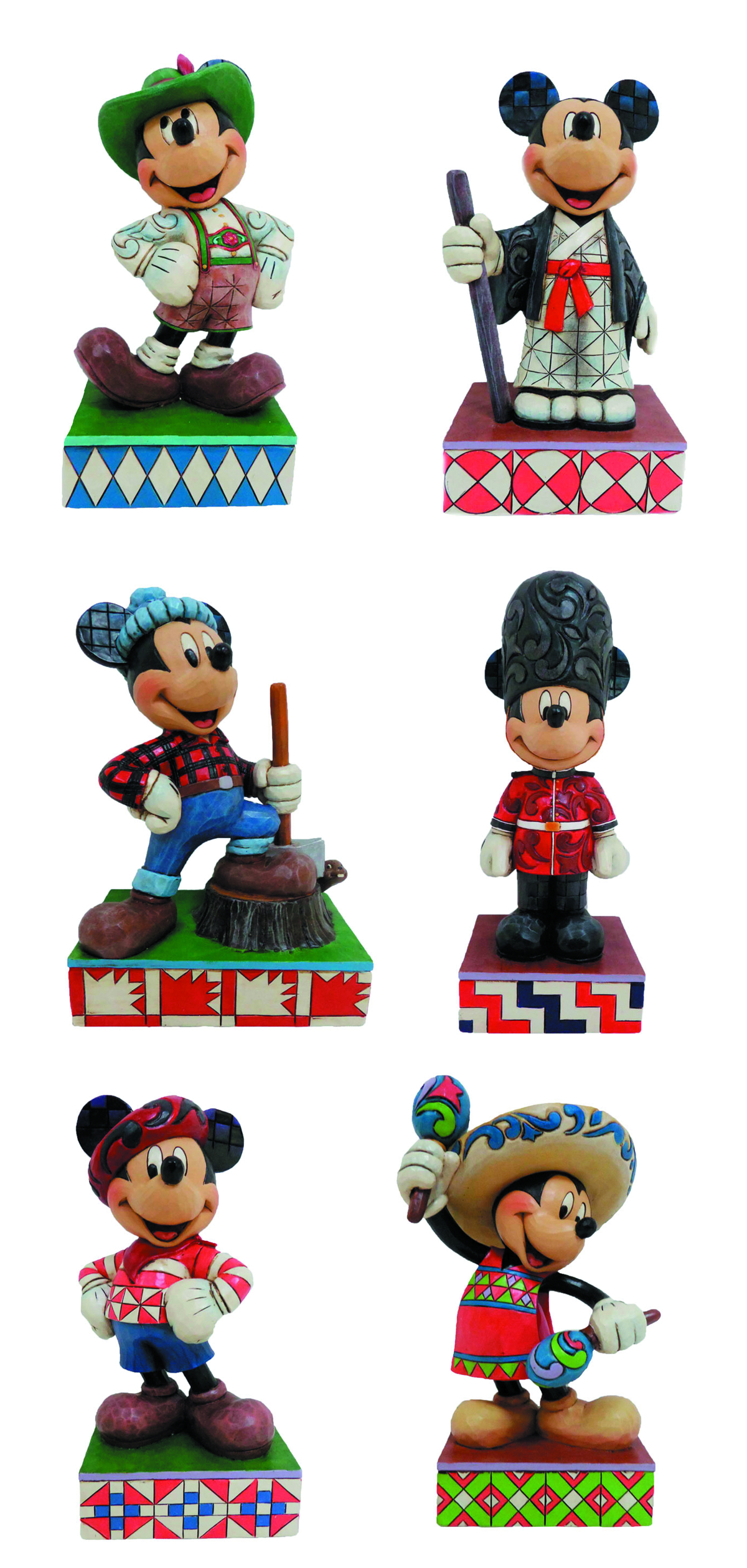 DISNEY TRADITIONS MICKEY AROUND THE WORLD FIG PPK