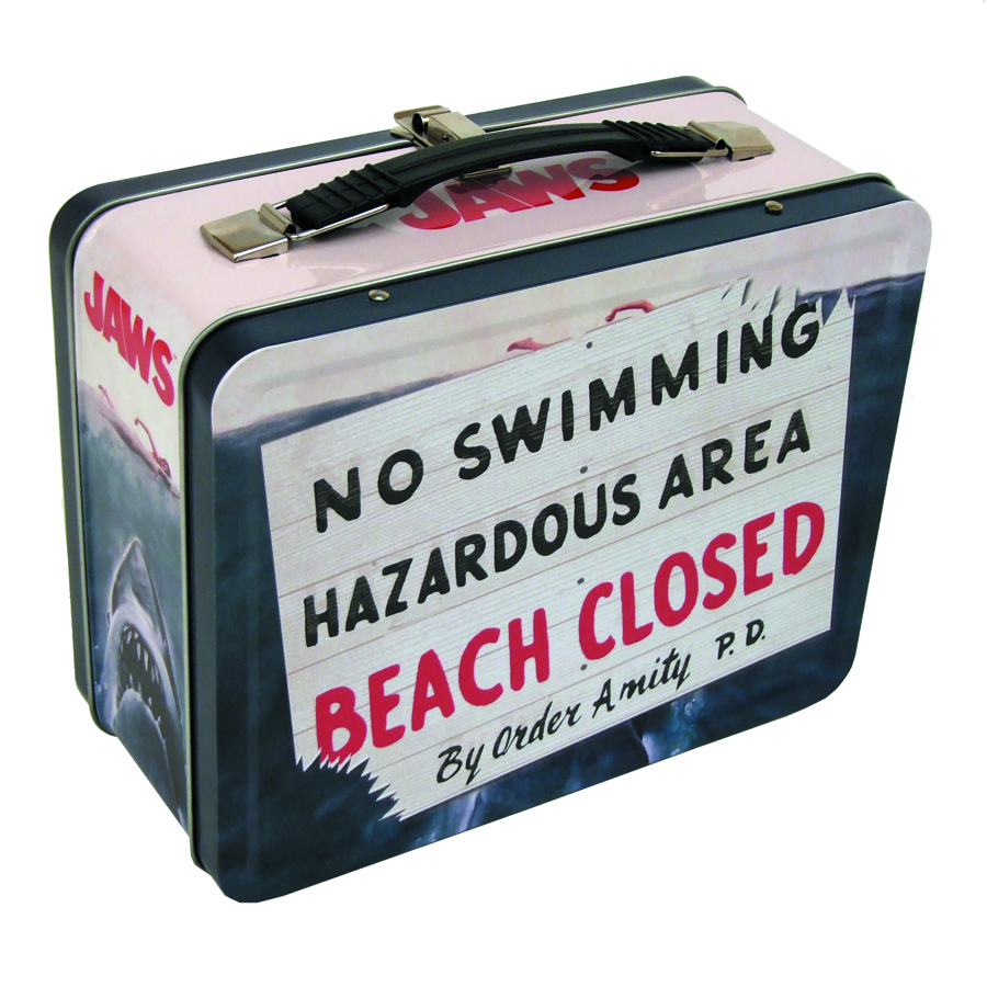 JAWS NO SWIMMING RETRO TIN TOTE