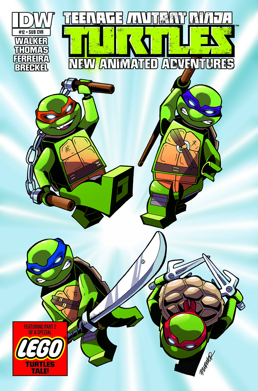 TMNT NEW ANIMATED ADVENTURES #13 LEGO CVR