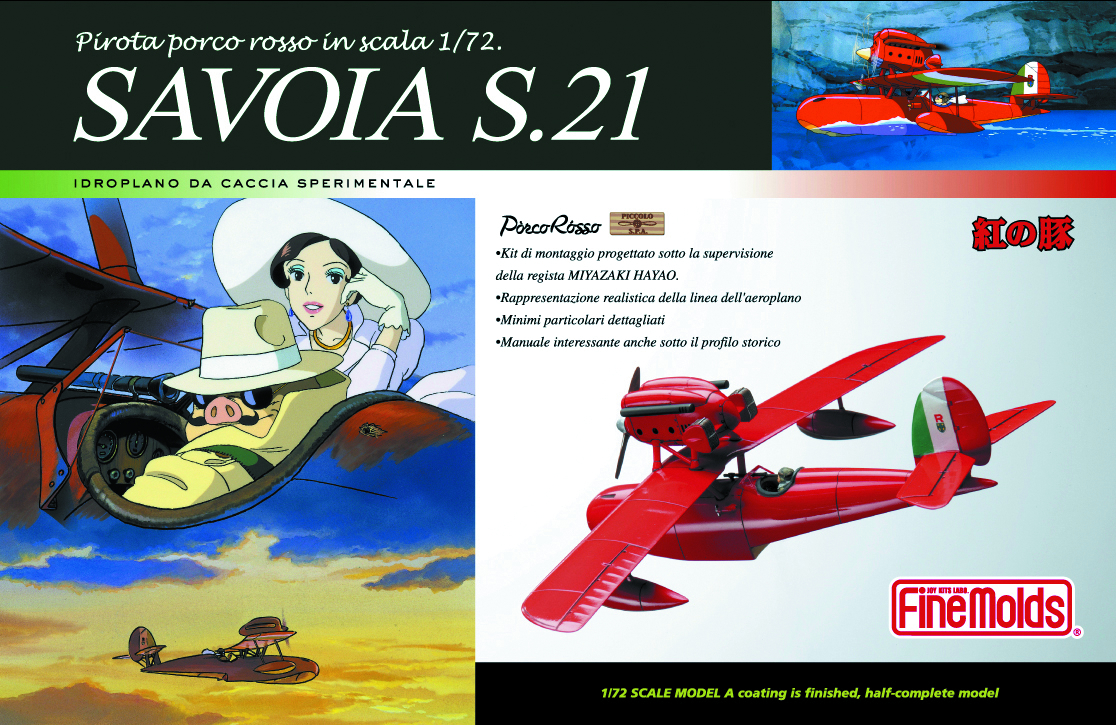 PORCO ROSSO SAVOIA S.21 1/72 SCL MDL KIT