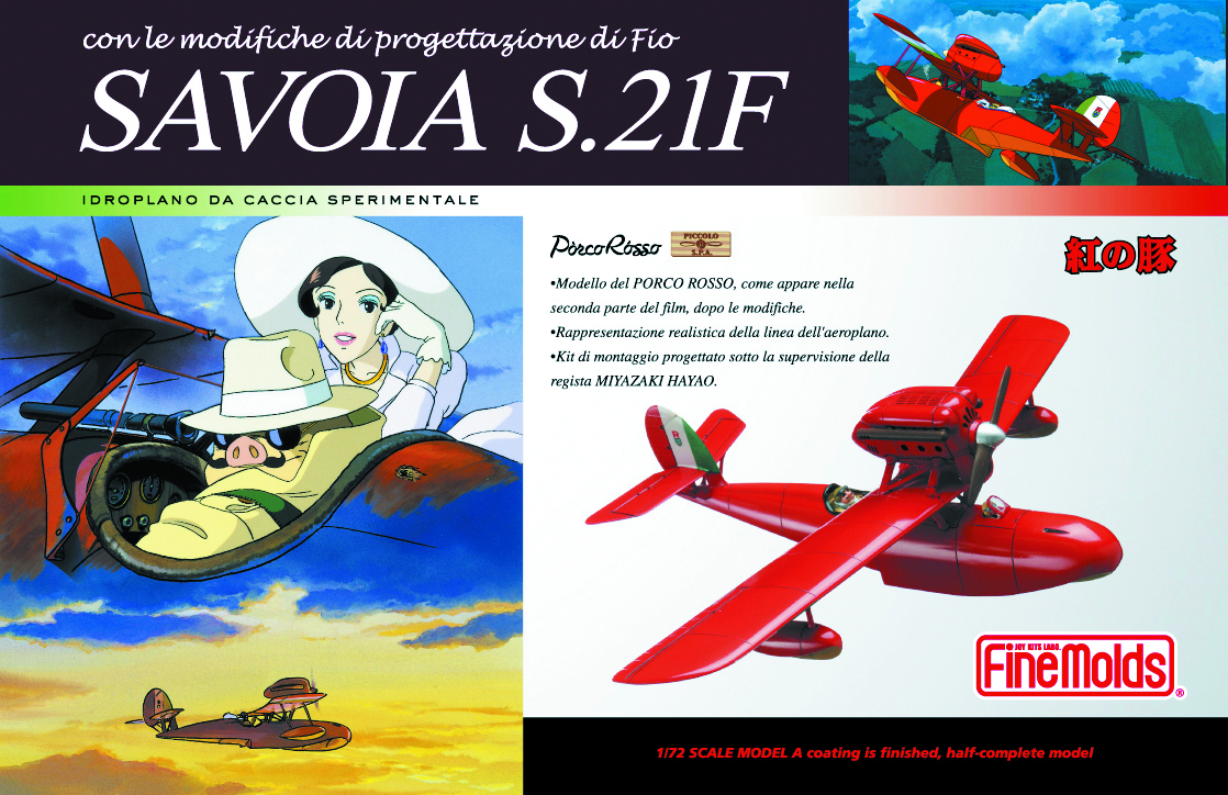 PORCO ROSSO SAVOIA S.21 1/72 SCL MDL KIT LATE VER