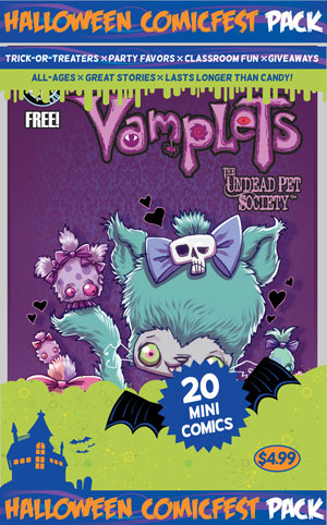HCF 2014 VAMPLETS UNDEAD PET SOCIETY MINI COMIC PACK