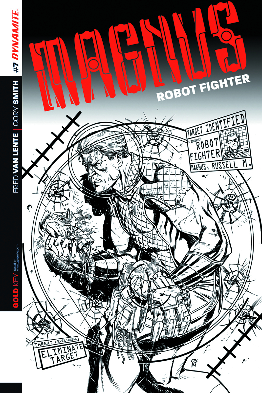 MAGNUS ROBOT FIGHTER #7 25 COPY SMITH B&W INCV