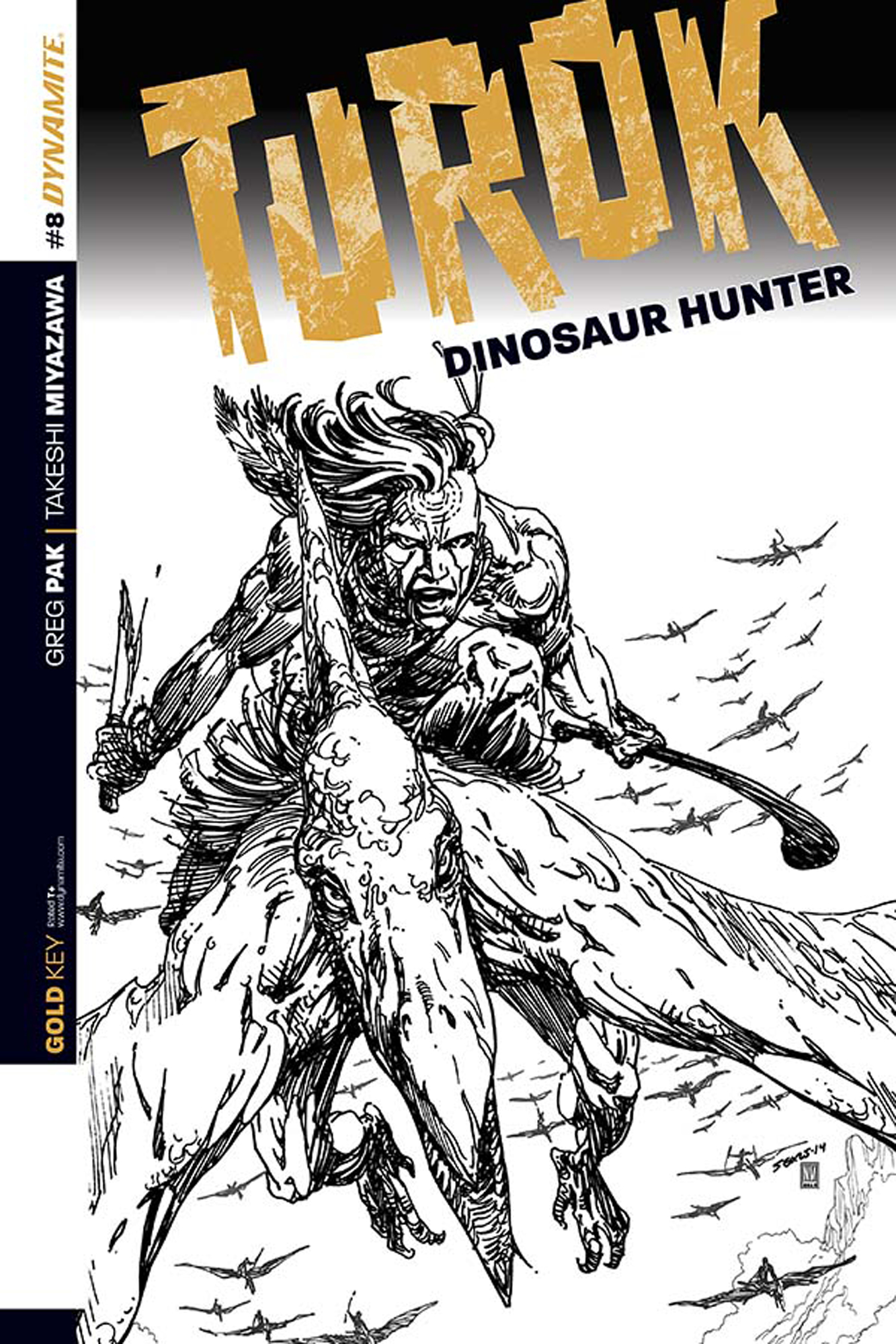 TUROK DINOSAUR HUNTER #8 10 COPY SEARS B&W INCV