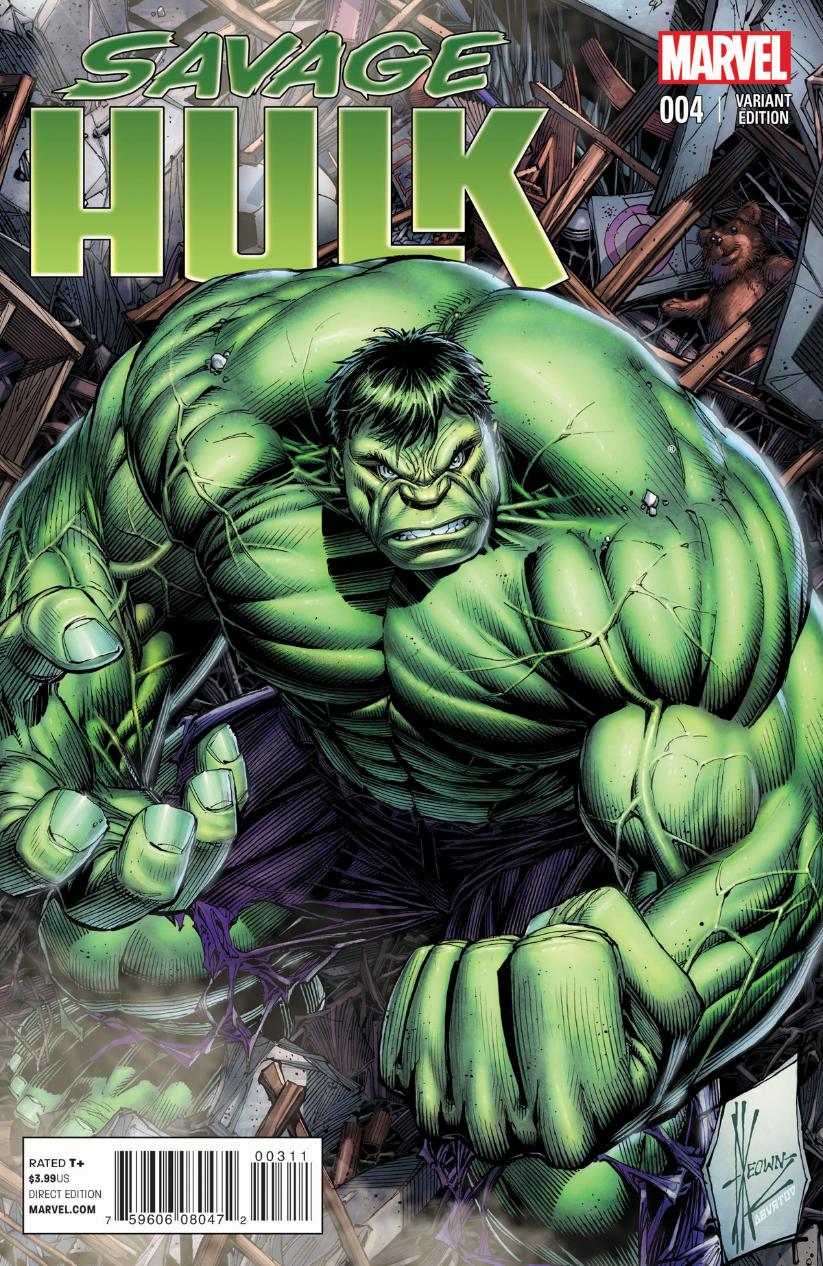 SAVAGE HULK #4 KEOWN VAR