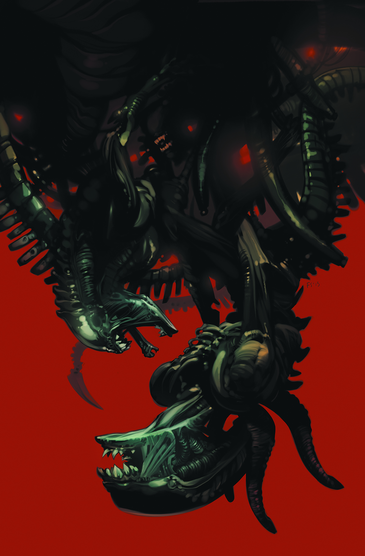 ALIENS FIRE AND STONE #1 STAPLES VAR