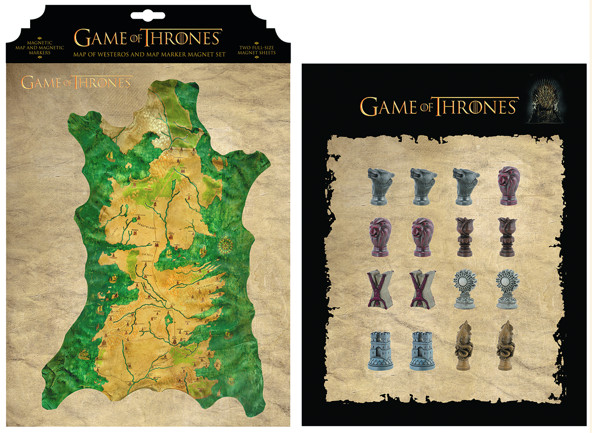GAME OF THRONES MAGNET SET WESTEROS MAP