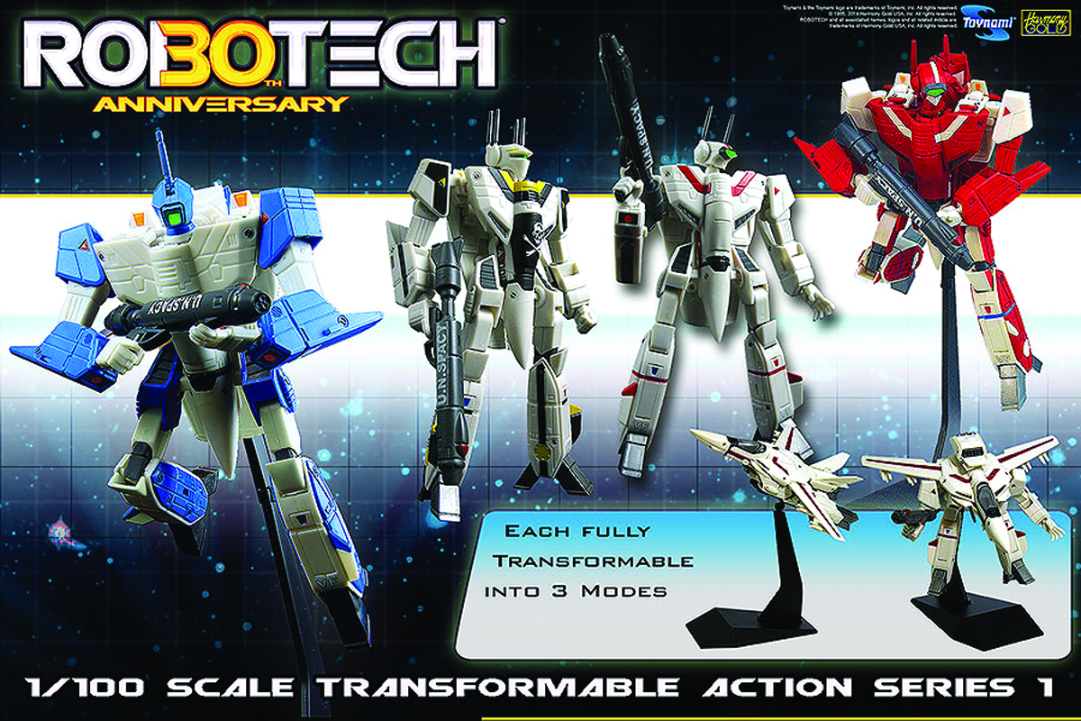 ROBOTECH TRANSFORMABLE 1/100 SCALE AF ASST