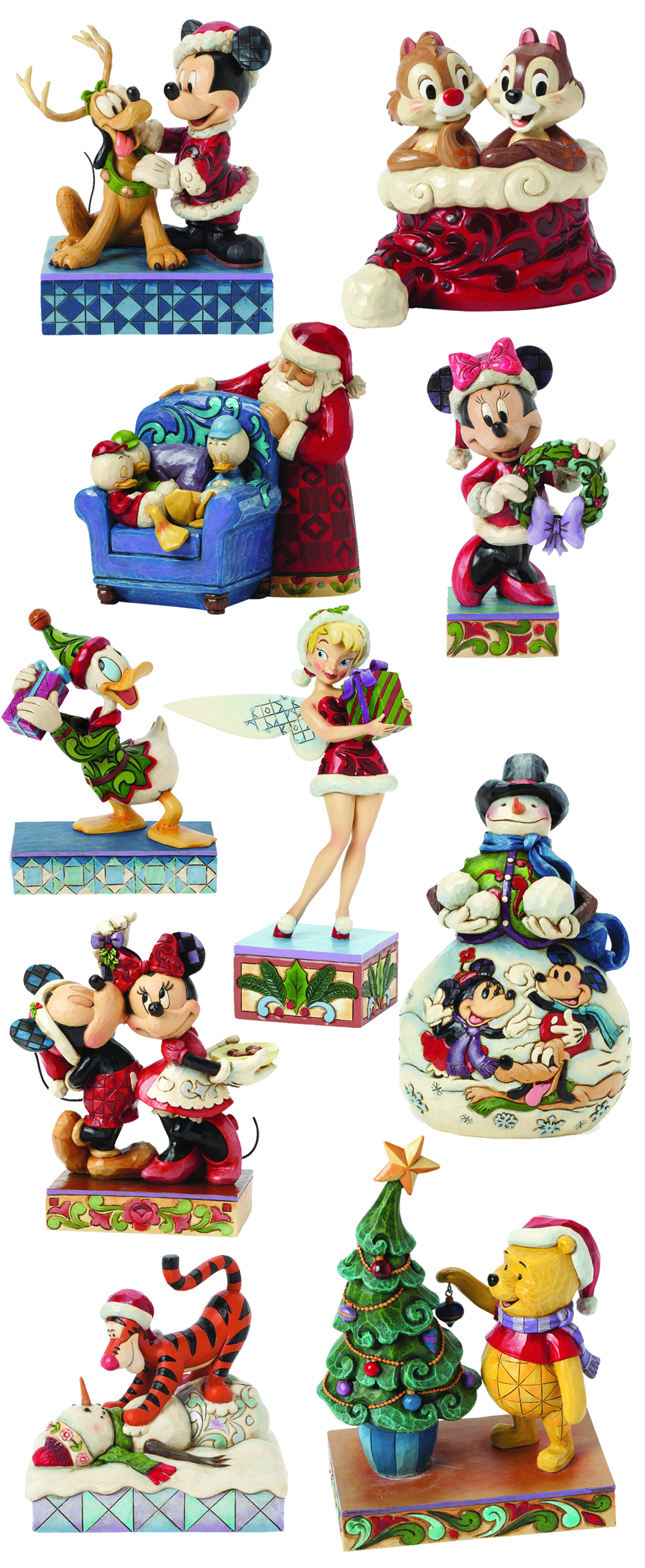 DISNEY TRADITIONS 2014 CHRISTMAS FIG ASST
