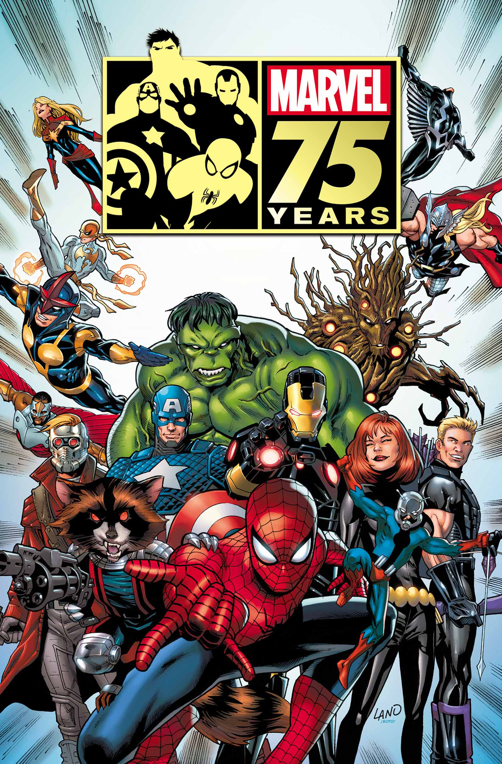 MARVEL 75TH ANNIVERSARY MAGAZINE FREE LAND CVR