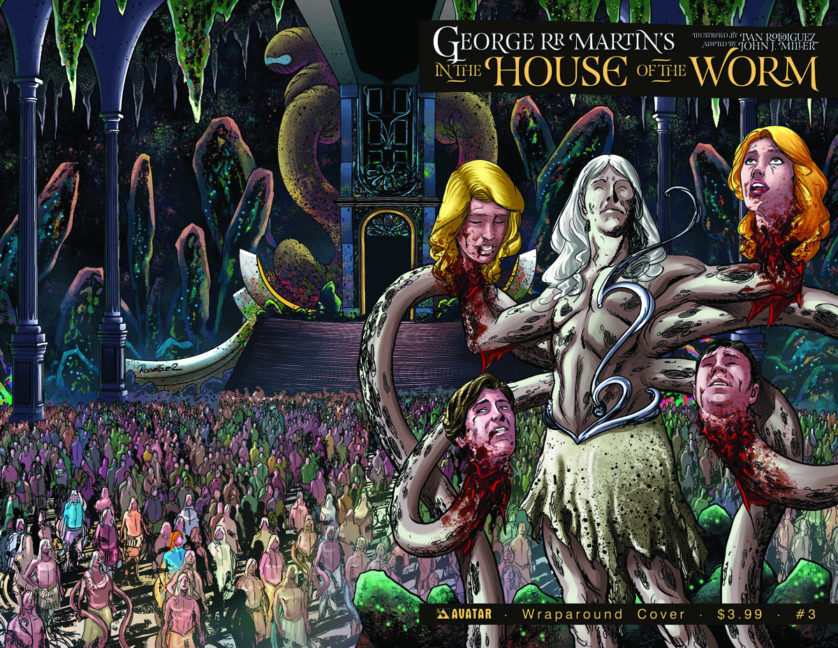 GEORGE RR MARTIN IN THE HOUSE O/T WORM #3 WRAP CVR