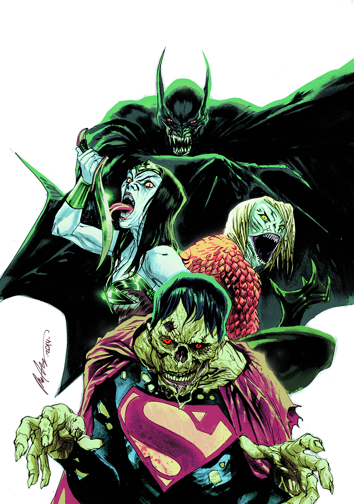 JUSTICE LEAGUE #35 MONSTERS VAR ED