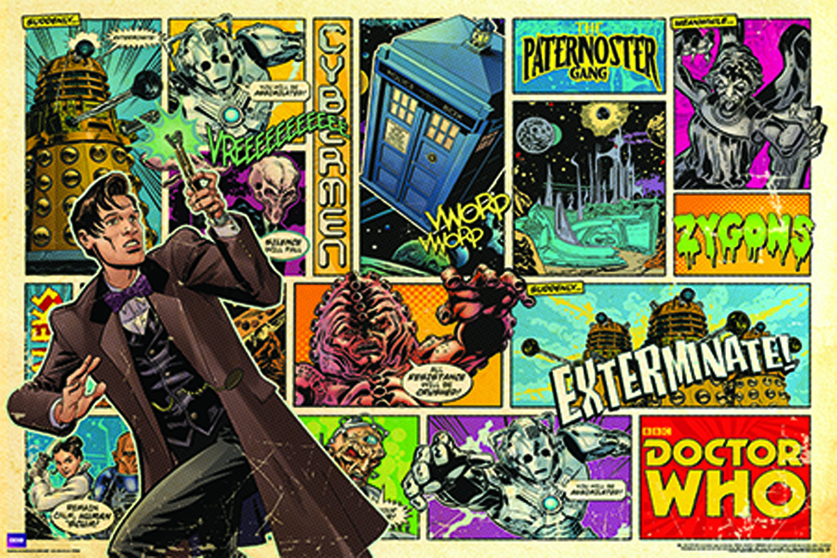 DOCTOR WHO COMIC STRIP ROLLED POSTER