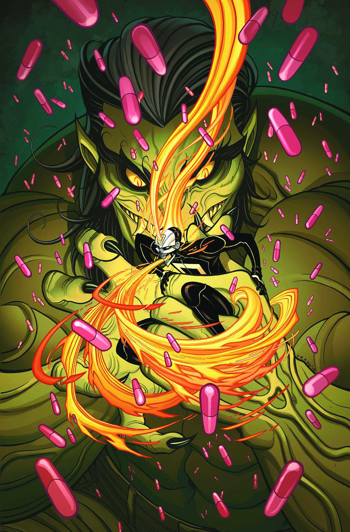 ALL NEW GHOST RIDER #3 2ND PTG MOORE VAR ANMN