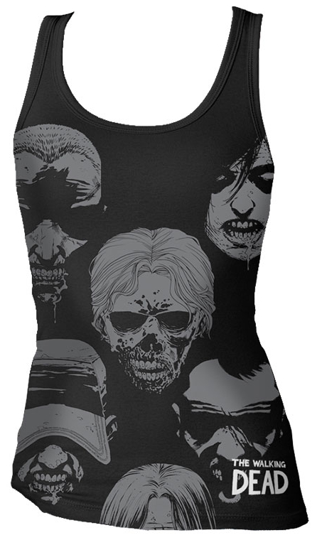 WALKING DEAD WALKER FACES TANK SM WOMENS