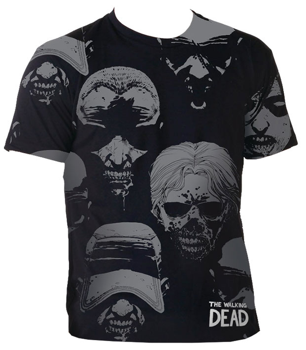 WALKING DEAD WALKER FACES T/S MED MENS