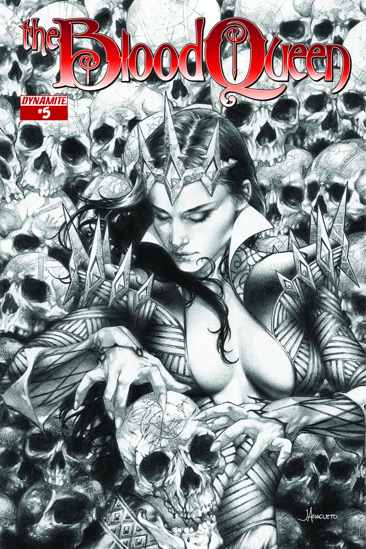 BLOOD QUEEN #5 25 COPY ANACLETO B&W INCV