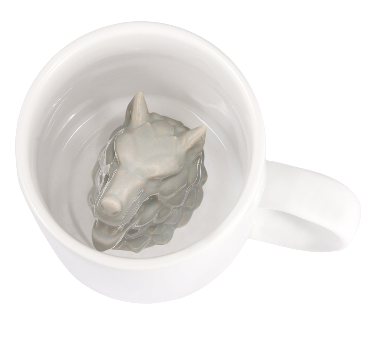 GAME OF THRONES STARK WOLF SCULPTED MUG