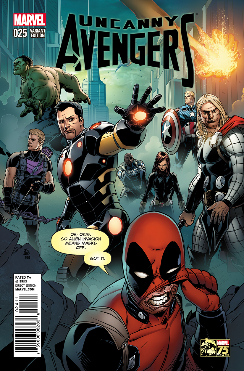 UNCANNY AVENGERS #25 DEADPOOL 75TH ANNIV PHAM VAR AXIS
