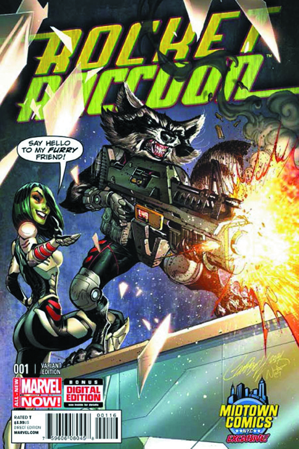 DF ROCKET RACCOON #1 MIDTOWN EXC CAMPBELL