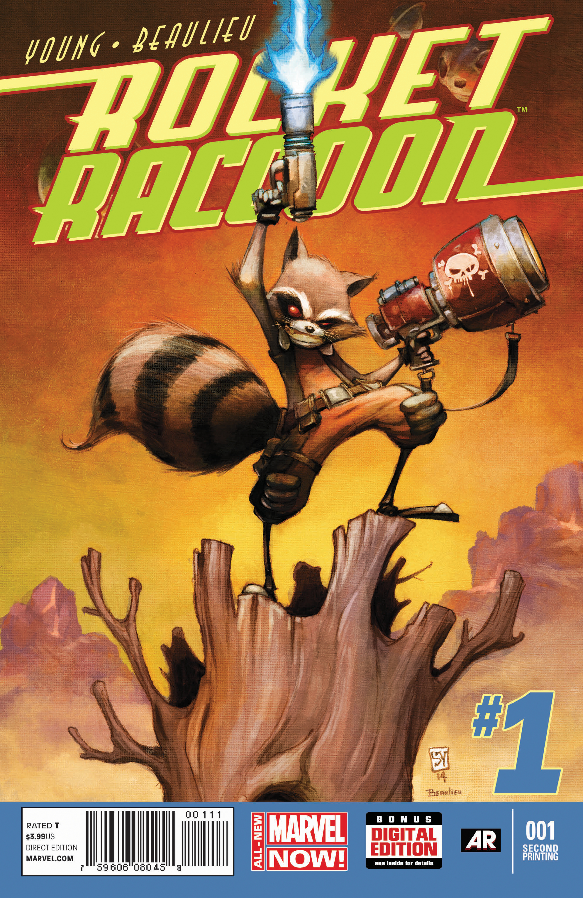 ROCKET RACCOON #1 2ND PTG YOUNG VAR ANMN