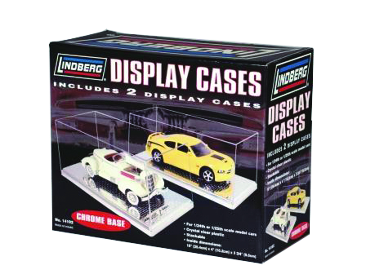 LINDBERG CHROME BASE 1/25 DISPLAY CASE 2-PK