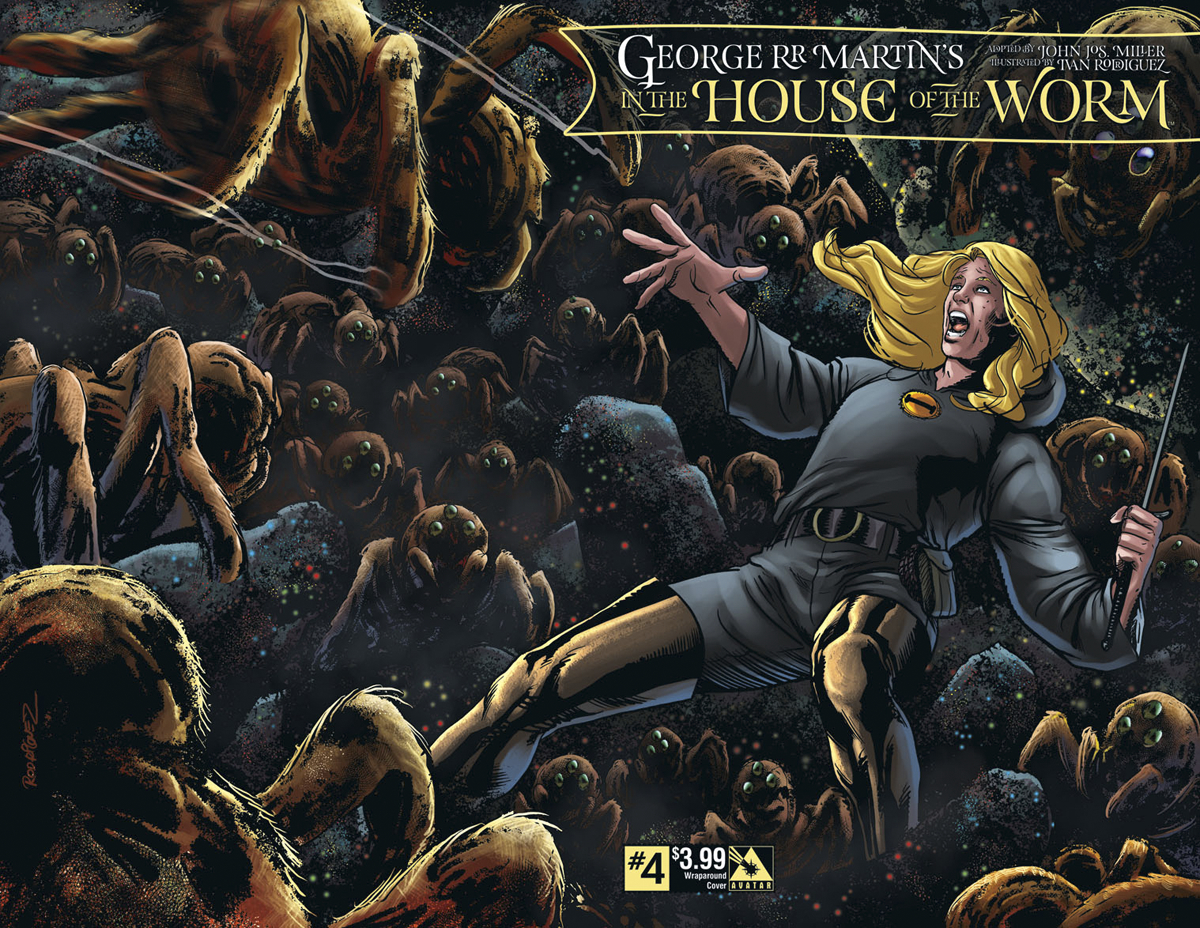 GEORGE RR MARTIN IN THE HOUSE O/T WORM #4 WRAP CVR