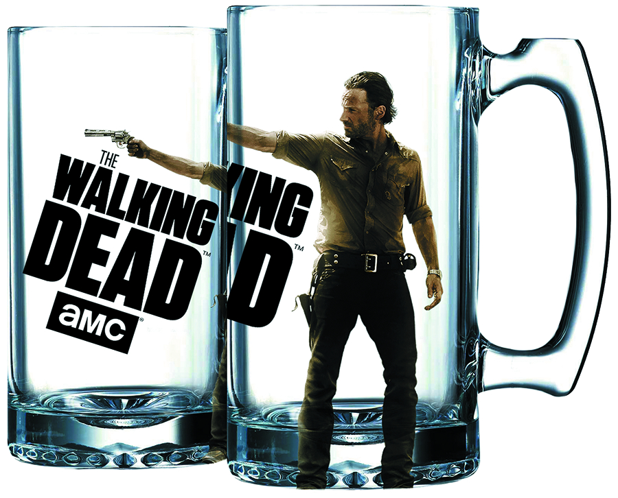 WALKING DEAD RICK GRIMES BEER MUG