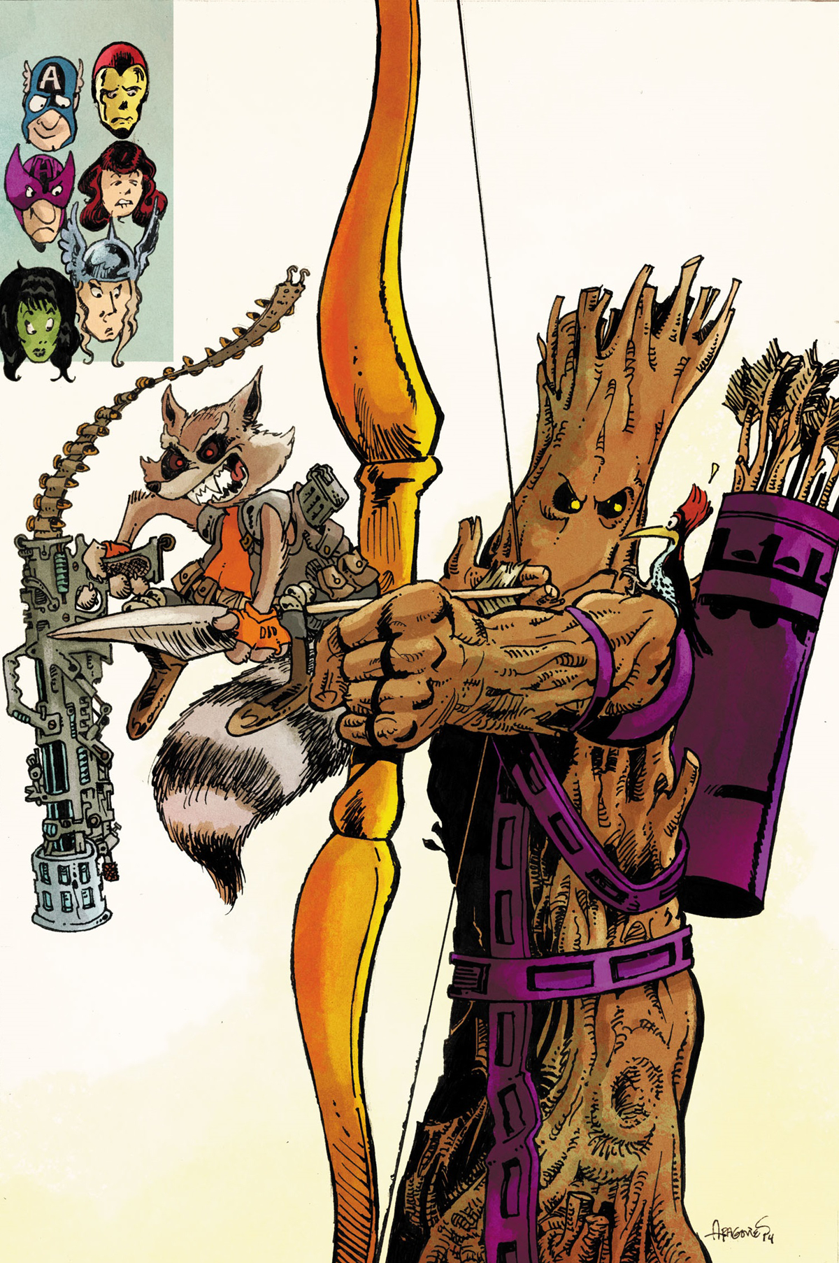 AVENGERS WORLD #15 ROCKET RACCOON AND GROOT VAR AXIS