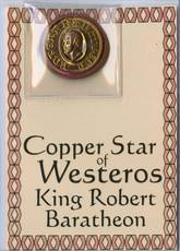 GAME OF THRONES BARATHEON COPPER STAR OF WESTEROS COIN