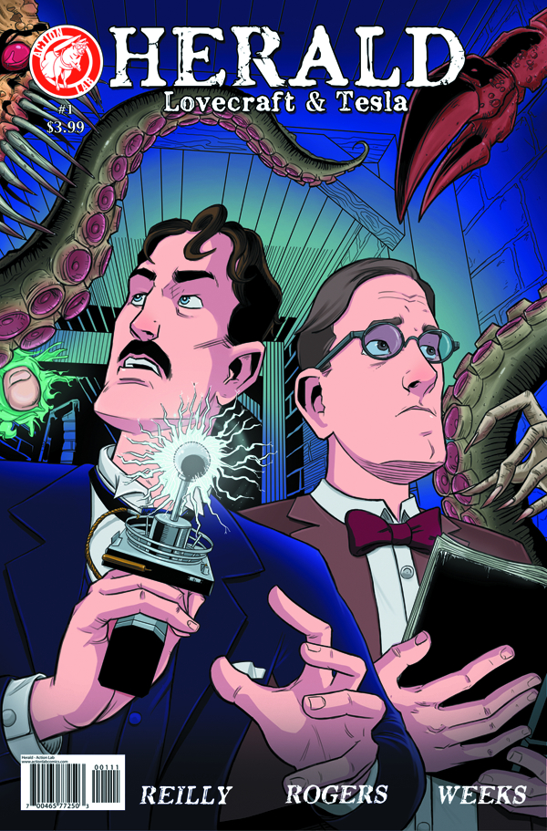 HERALD LOVECRAFT AND TESLA #1 (OF 3) MAIN CVR