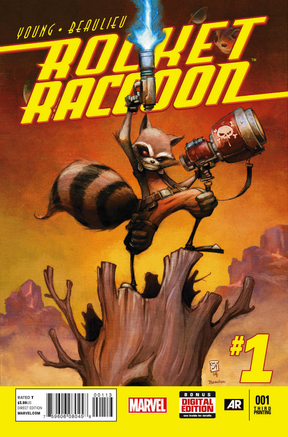 ROCKET RACCOON #1 3RD PTG YOUNG VAR ANMN (PP #1142)