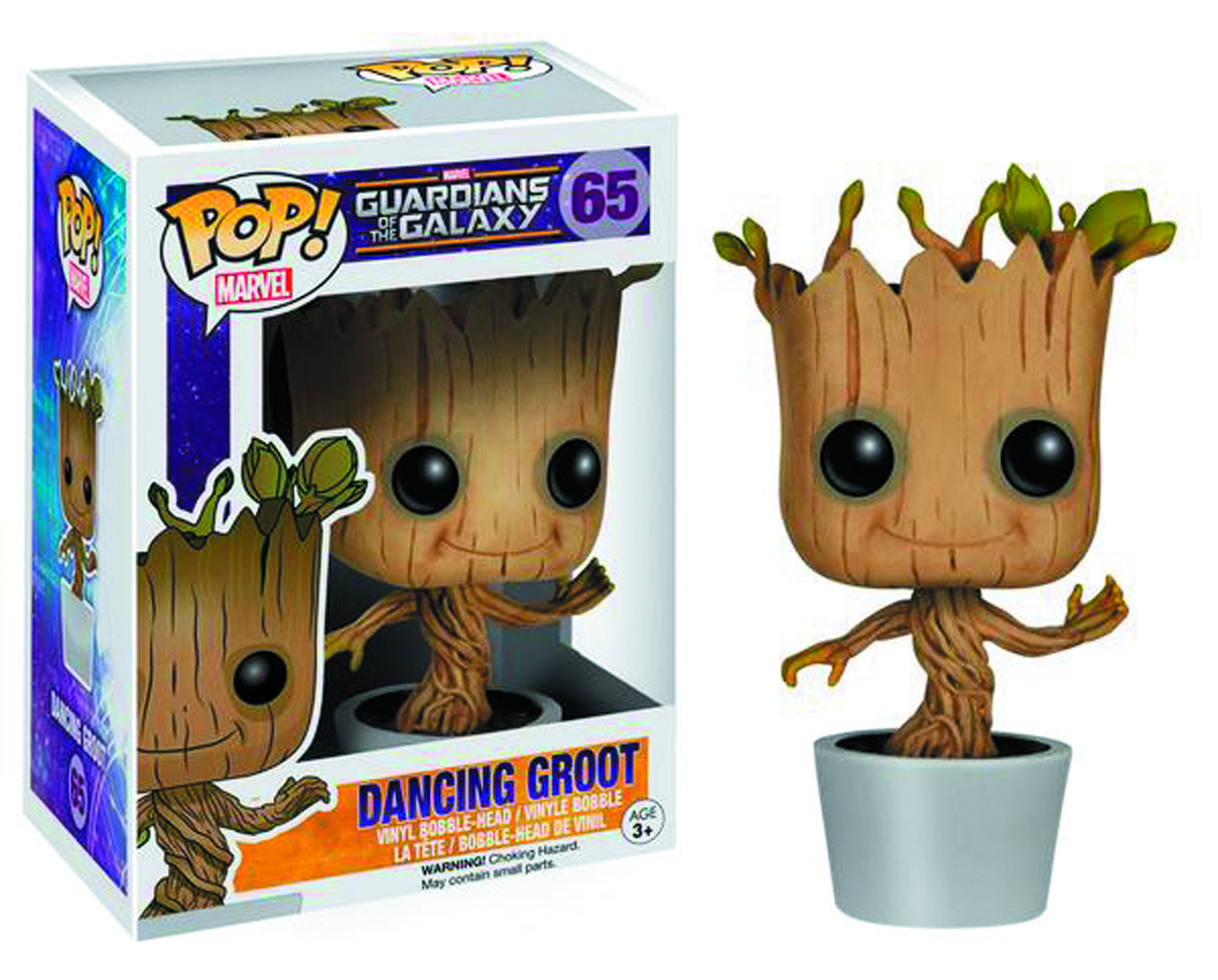 POP GOTG DANCING GROOT VINYL FIG