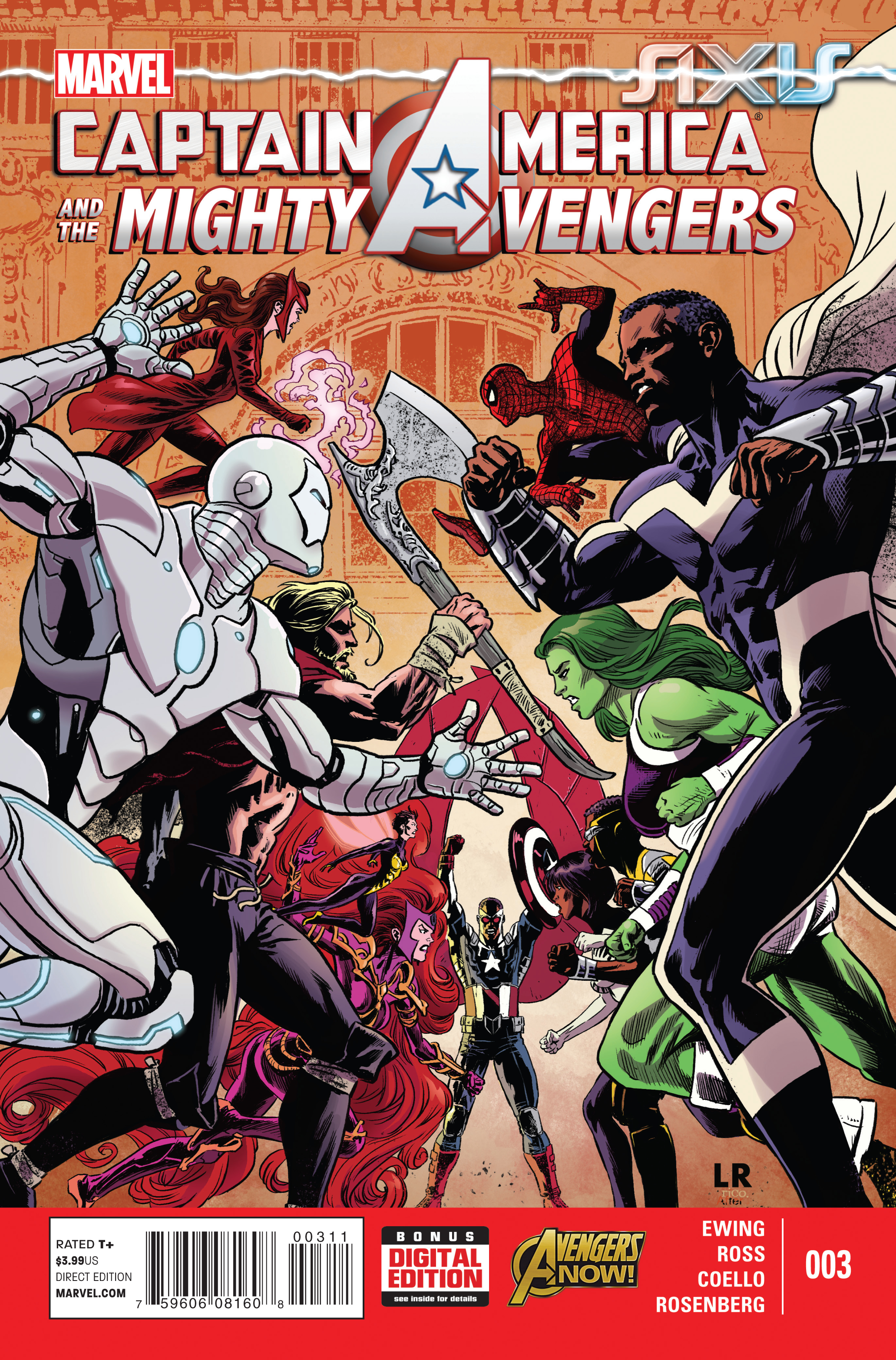 CAPTAIN AMERICA AND MIGHTY AVENGERS #3 AXIS