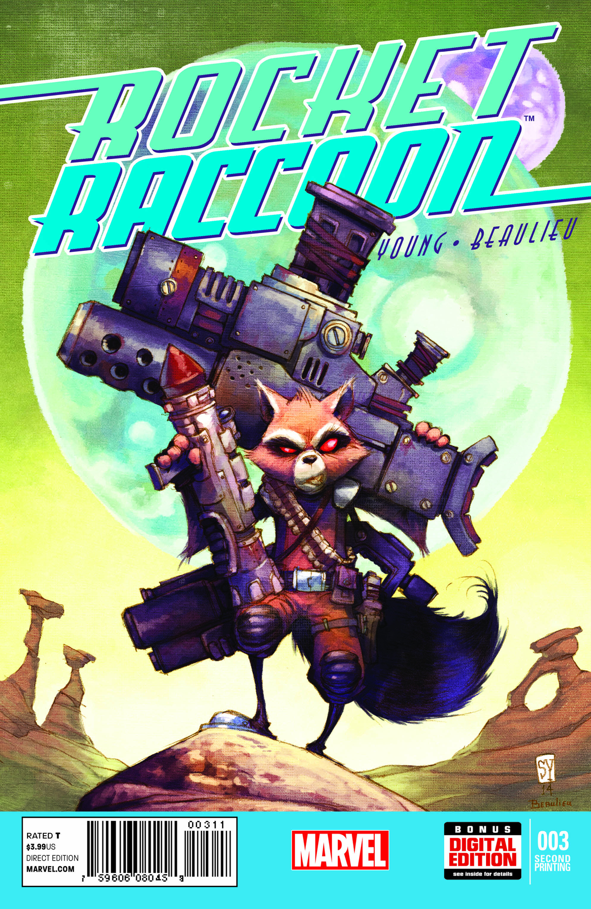 ROCKET RACCOON #3 2ND PTG YOUNG VAR