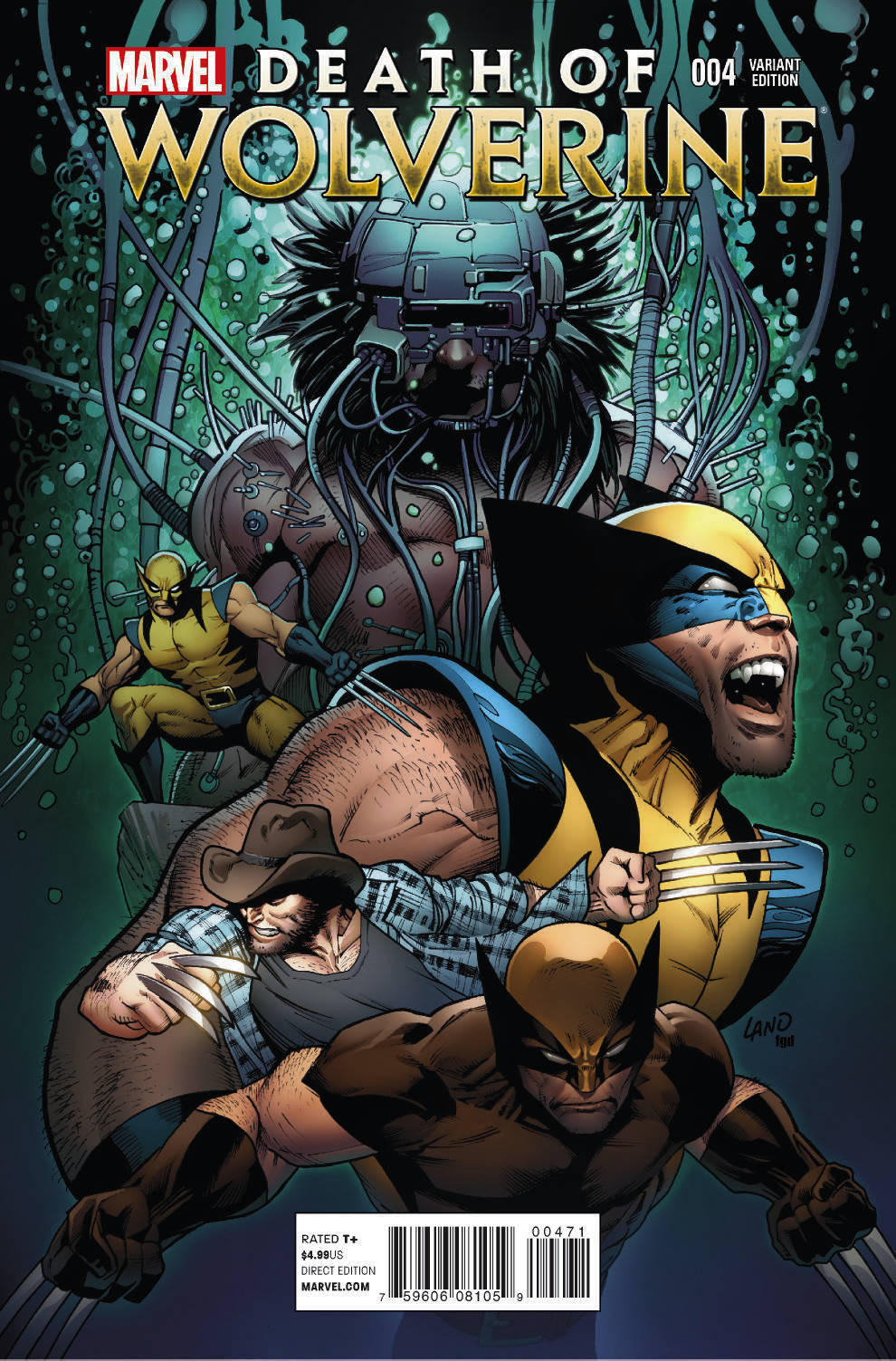 DEATH OF WOLVERINE #4 (OF 4) LAND FINAL WOLVERINE VAR (PP #