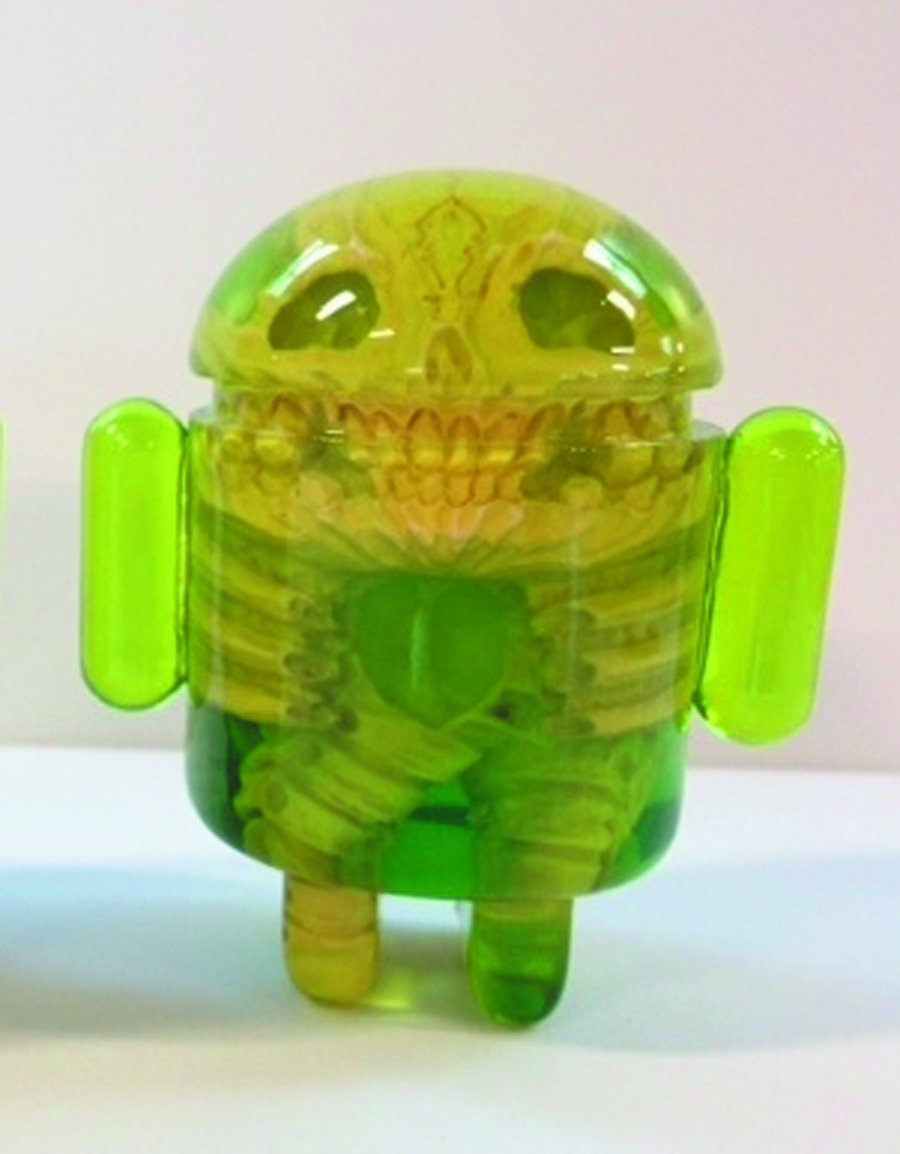 INFECTED ANDROID RESIN FIGURE - GREEN