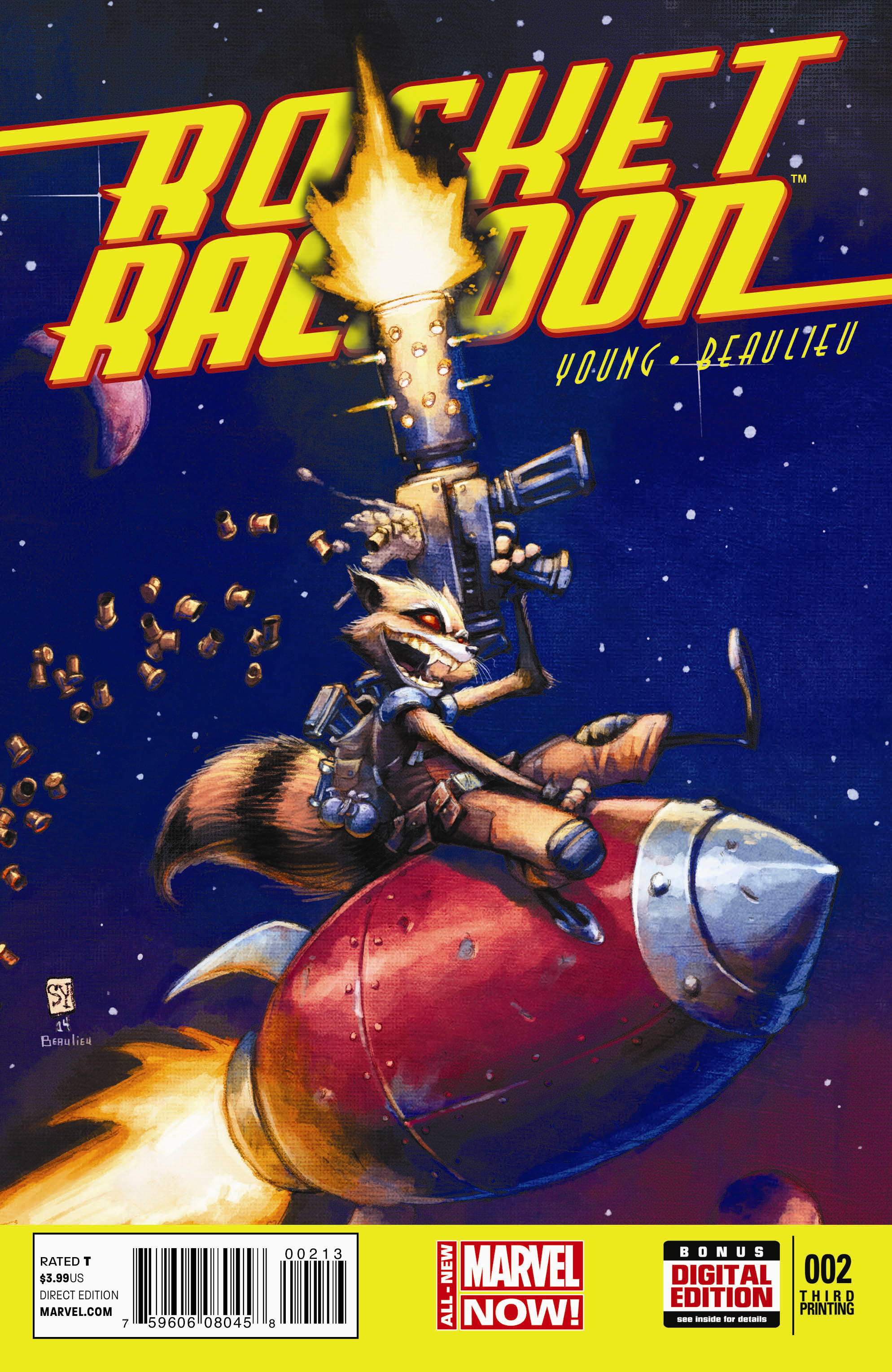 ROCKET RACCOON #2 3RD PTG YOUNG VAR