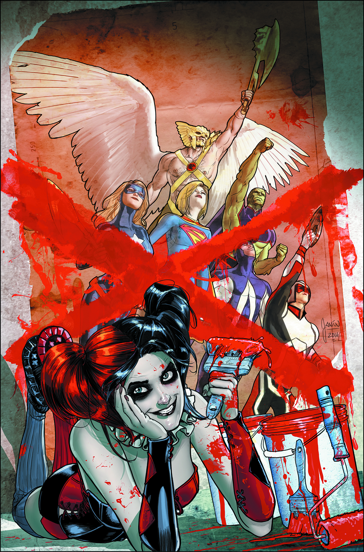 JUSTICE LEAGUE UNITED #9 HARLEY QUINN VAR ED