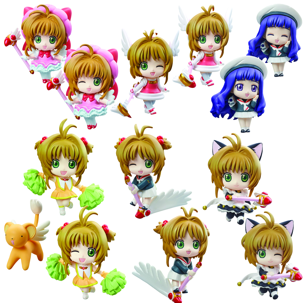 CARDCAPTOR SAKURA PS PETIT CHARA LAND 6PC RELEASE THE SEAL (