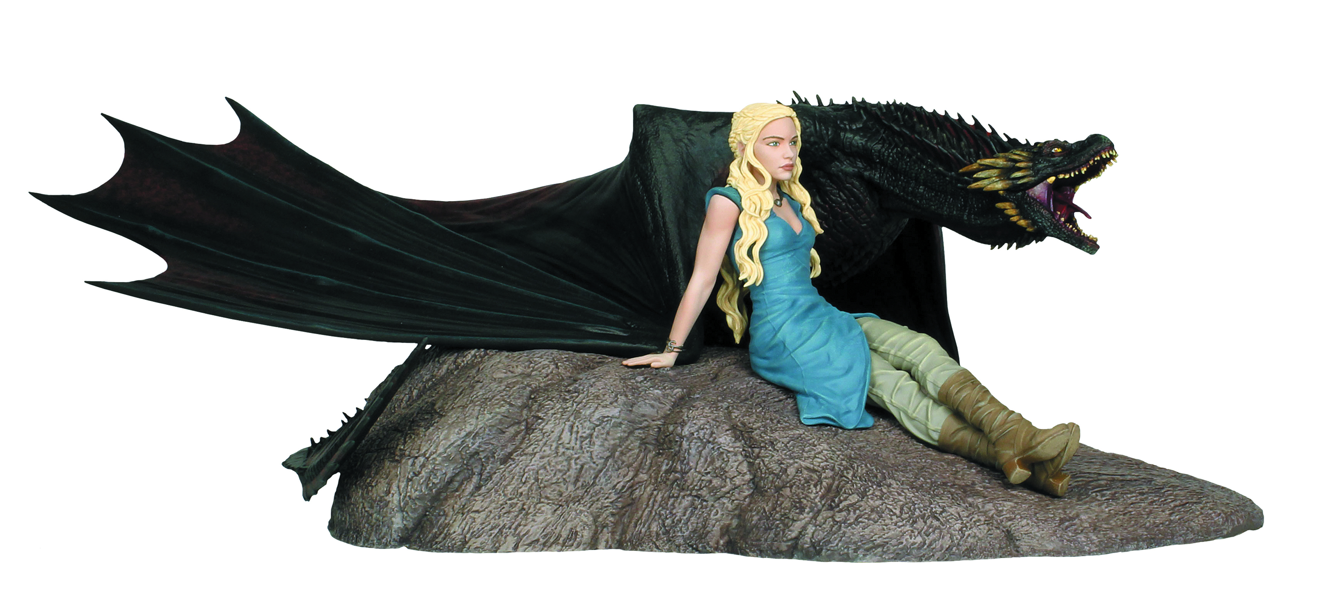 GAME OF THRONES STATUE DAENERYS & DROGON