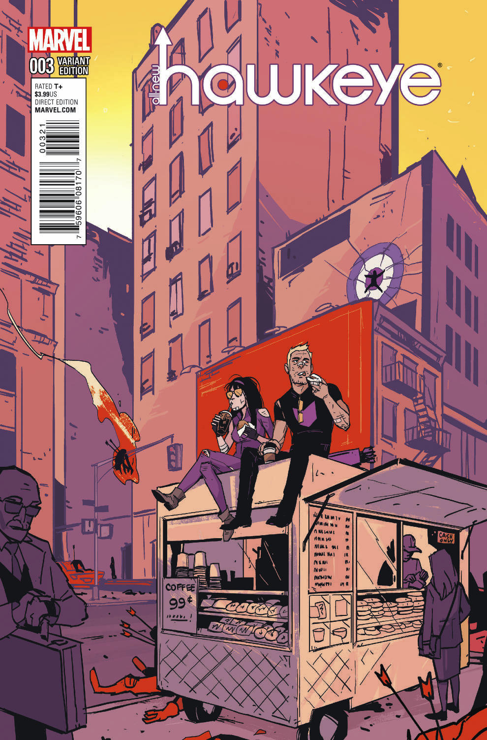 ALL NEW HAWKEYE #3 FERRY NYC VAR
