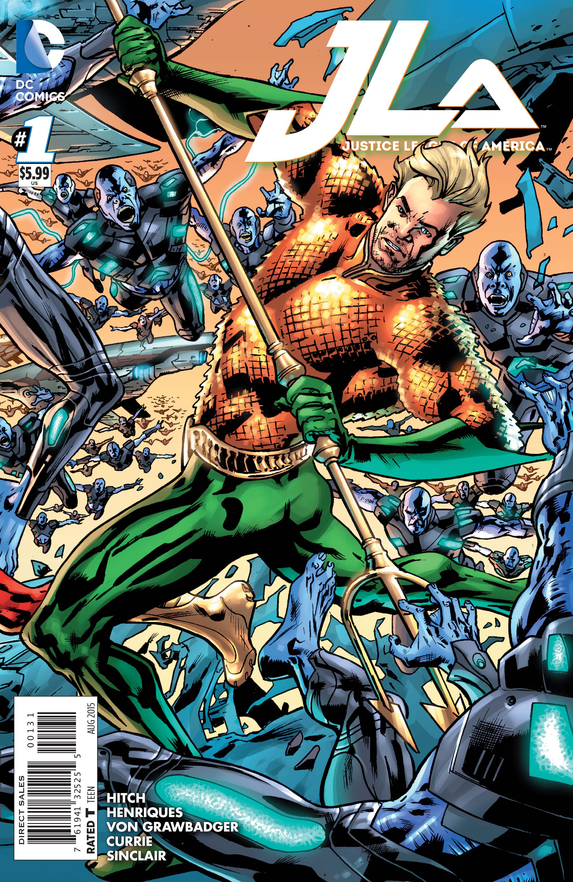 JUSTICE LEAGUE OF AMERICA #1 AQUAMAN VAR ED