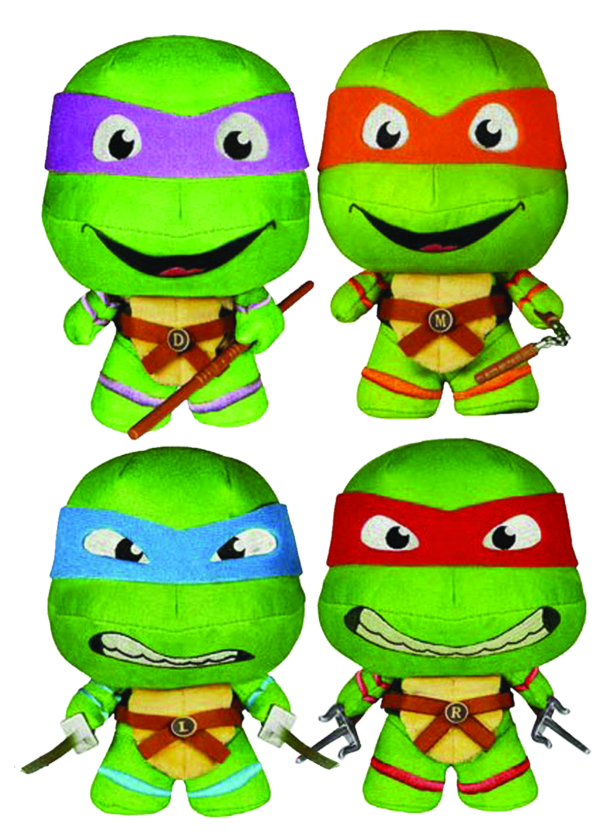 FABRIKATIONS TMNT MICHELANGELO SOFT SCULPT PLUSH FIG