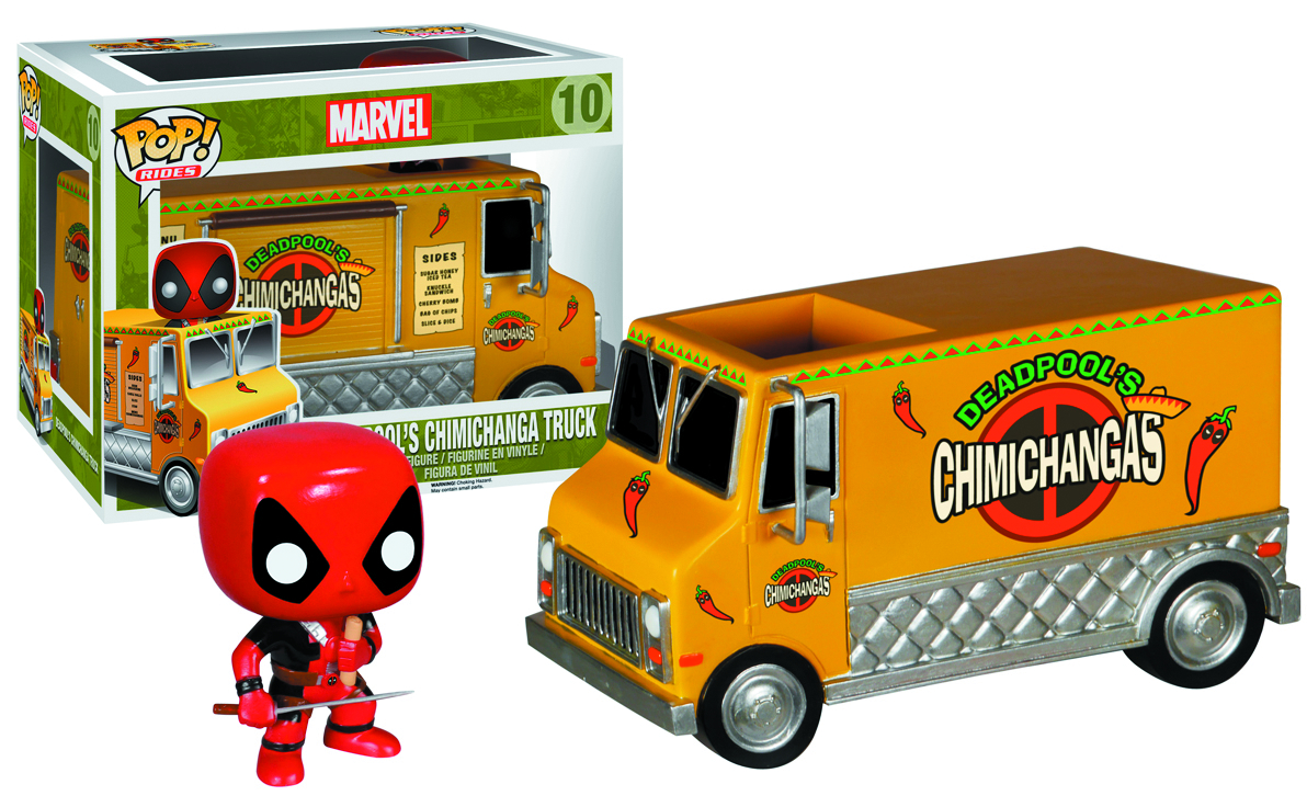POP RIDES DEADPOOLS CHIMICHANGA TRUCK VIN FIG