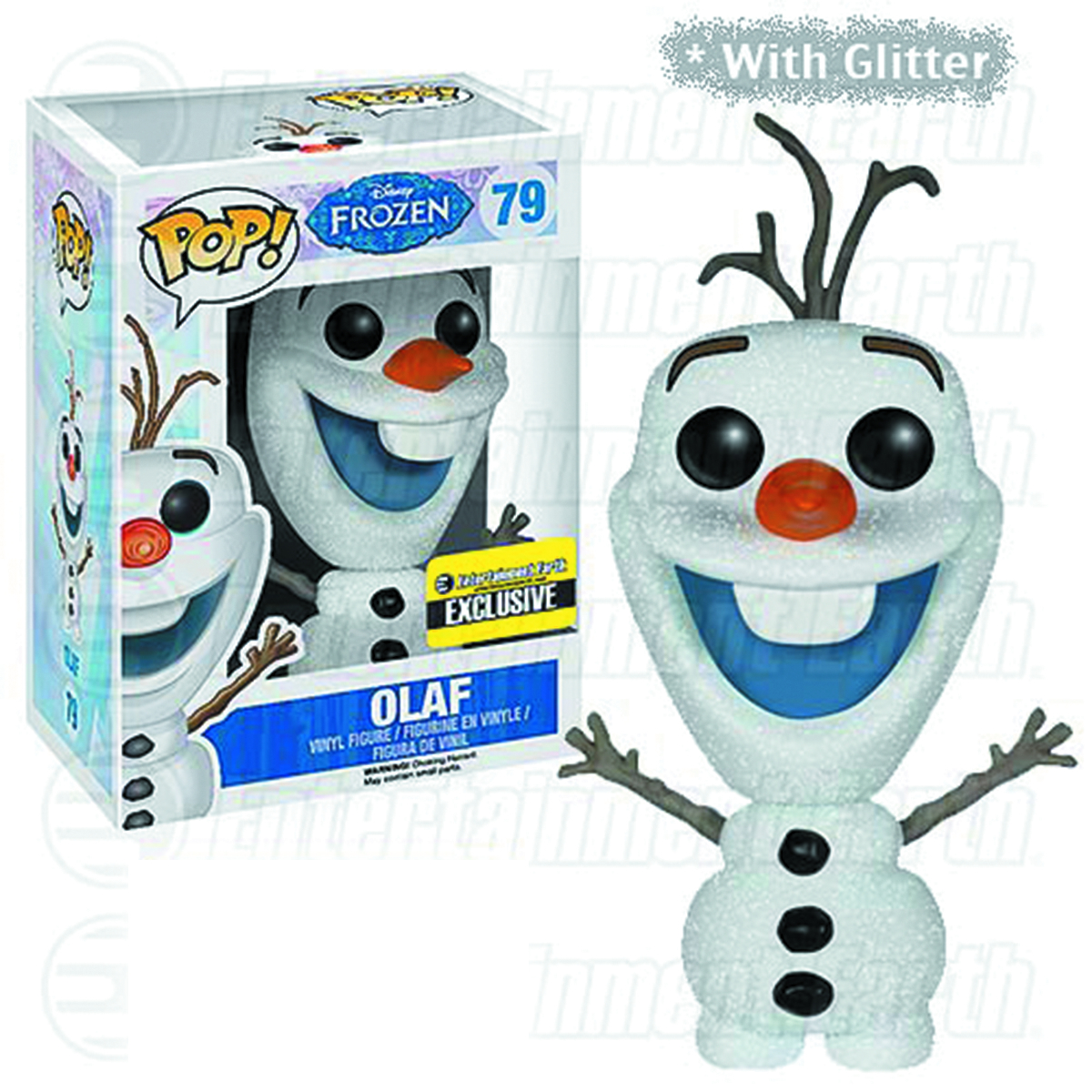 may152267 pop frozen olaf glitter vinyl fig previews world. Black Bedroom Furniture Sets. Home Design Ideas