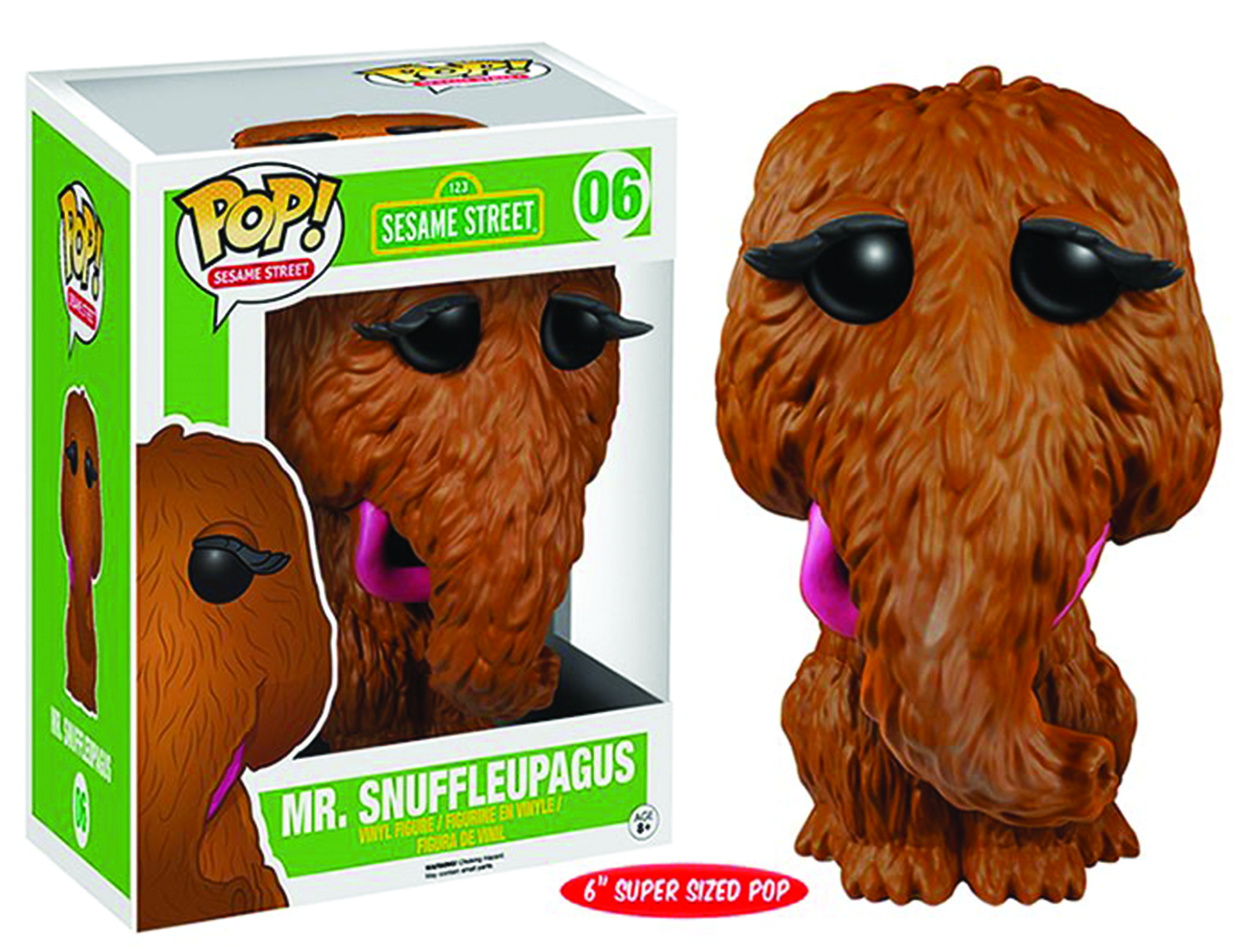 POP SESAME STREET SNUFFLEUPAGUS 6IN VINYL FIG